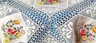 Dantel masa örtüsü örnekleri