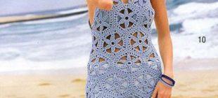 Örme dantel ile plaj modası