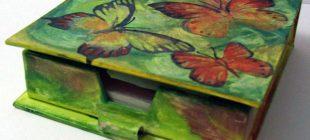Ahşap boyama peçetelikler